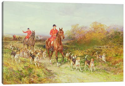 Hunting Scene Canvas Art Print