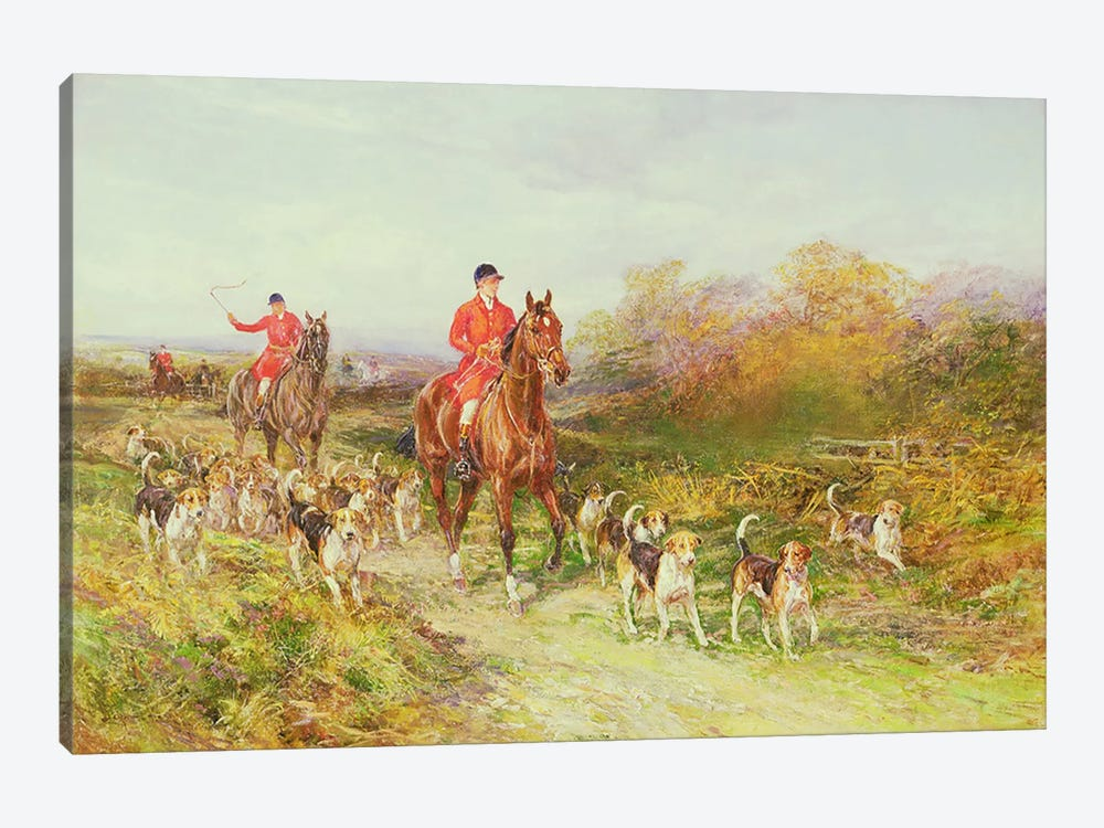 Hunting Scene by Heywood Hardy 1-piece Canvas Art Print