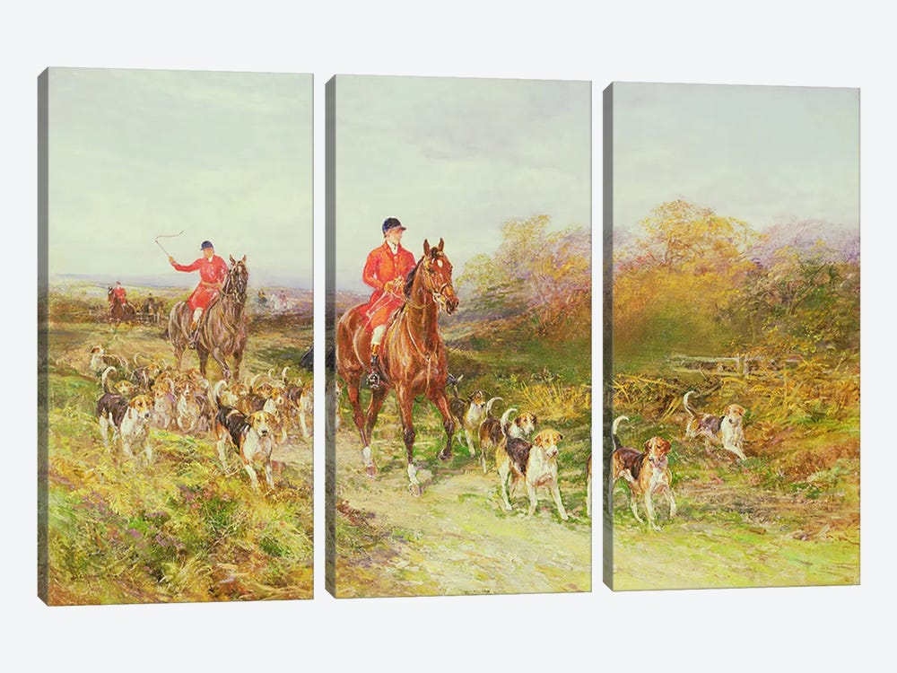 Hunting Scene by Heywood Hardy 3-piece Art Print