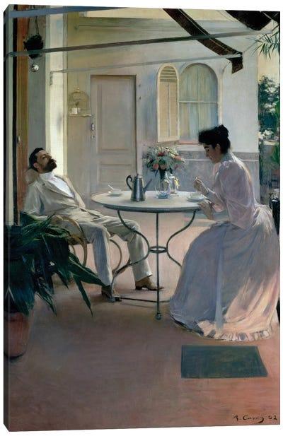 Open Air Interior, Barcelona, 1892  Canvas Art Print