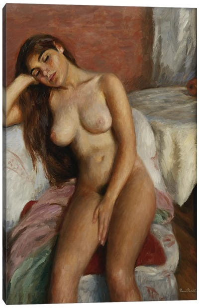 Young Woman Relaxing Canvas Art Print