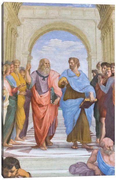 Aristotle and Plato: detail from the School of Athens in the Stanza della Segnatura, 1510-11  Canvas Art Print