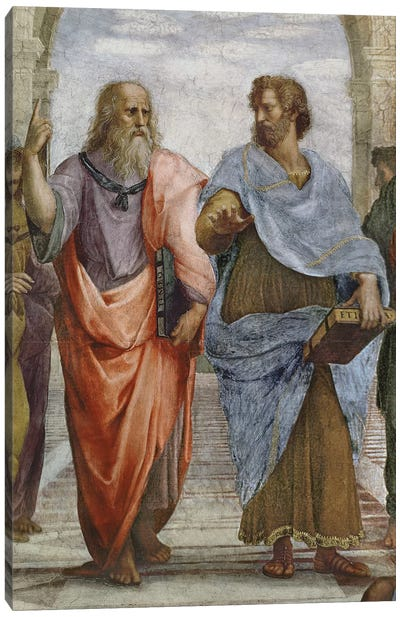 Aristotle and Plato: detail of School of Athens, 1510-11   Canvas Art Print