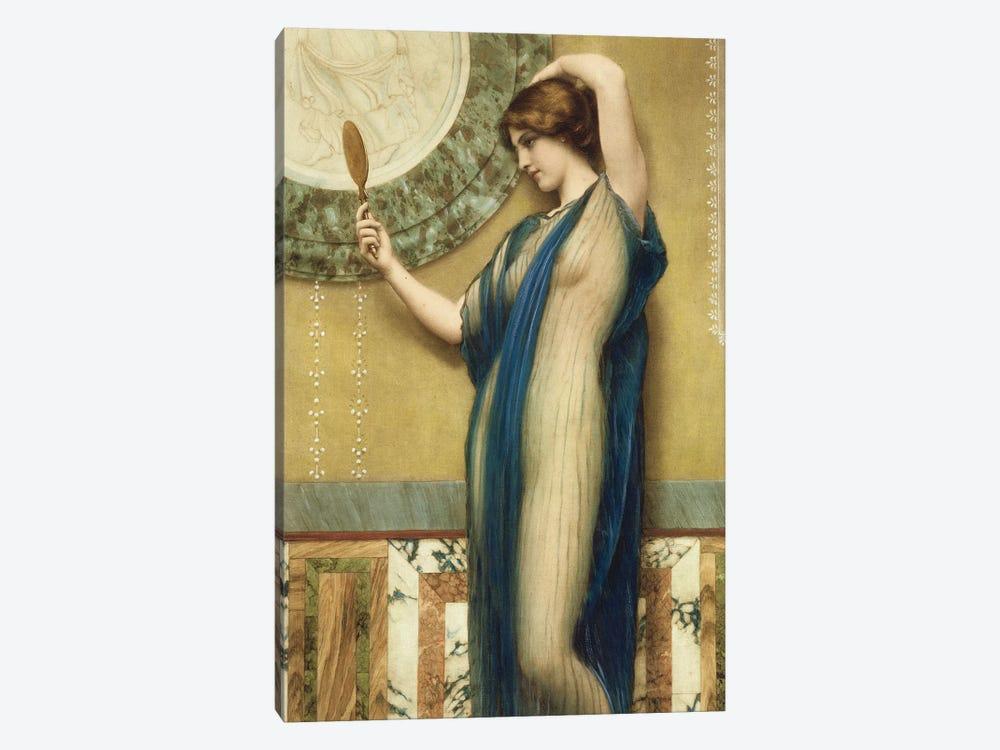 A Fair Reflection  by John William Godward 1-piece Canvas Artwork