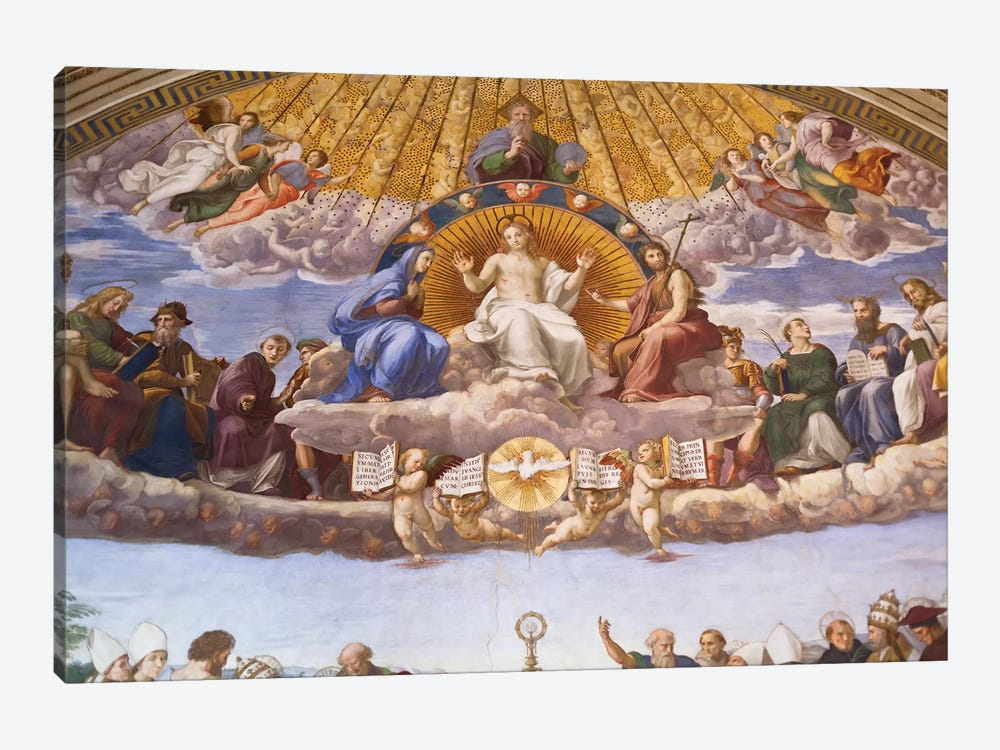 Detail of the Disputation of the Holy Sacrament, c.1509-10  by Raphael 1-piece Canvas Art Print