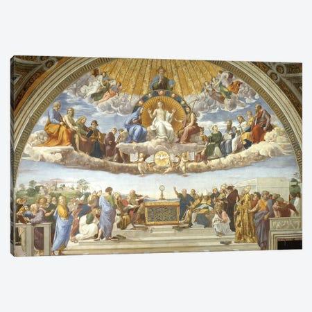 Disputa, from the Stanza della Segnatura, 1508-11  Canvas Print #BMN9772} by Raphael Art Print
