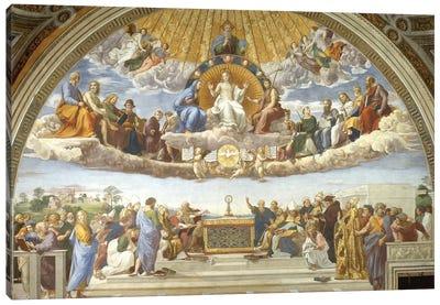 Disputa, from the Stanza della Segnatura, 1508-11  Canvas Art Print