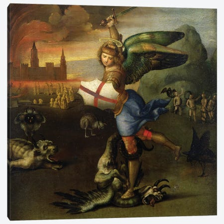St. Michael, c.1503-05   Canvas Print #BMN9775} by Raphael Canvas Wall Art