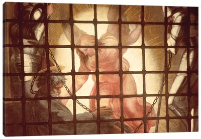 The Angel Wakes St Peter, from 'The Liberation of St Peter' in the Stanza d'Eliodoro, 1512-14    Canvas Art Print