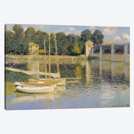 The Bridge at Argenteuil, 1874  Canvas Print #BMN977} by Claude Monet Canvas Art Print