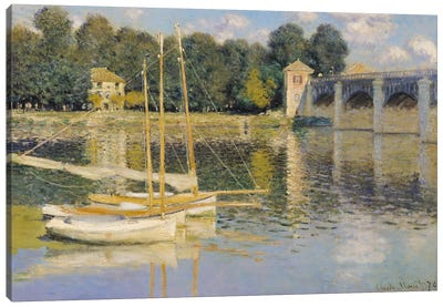 The Bridge at Argenteuil, 1874  Canvas Art Print