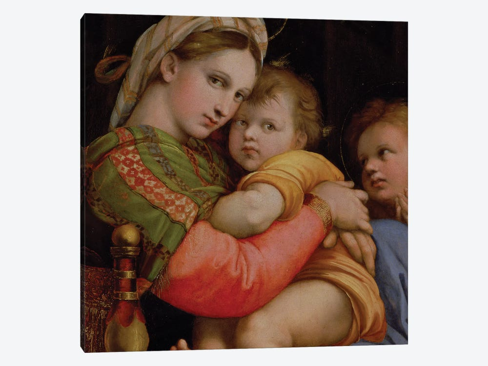 The Madonna of the Chair  by Raphael 1-piece Canvas Art Print