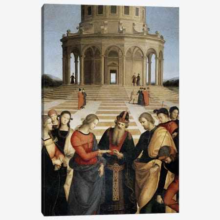 The Marriage of the Virgin, 1504 Canvas Print #BMN9781} by Raphael Canvas Wall Art