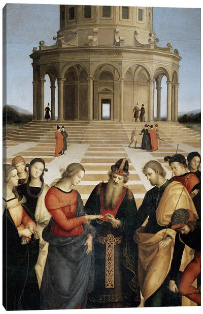 The Marriage of the Virgin, 1504 Canvas Art Print