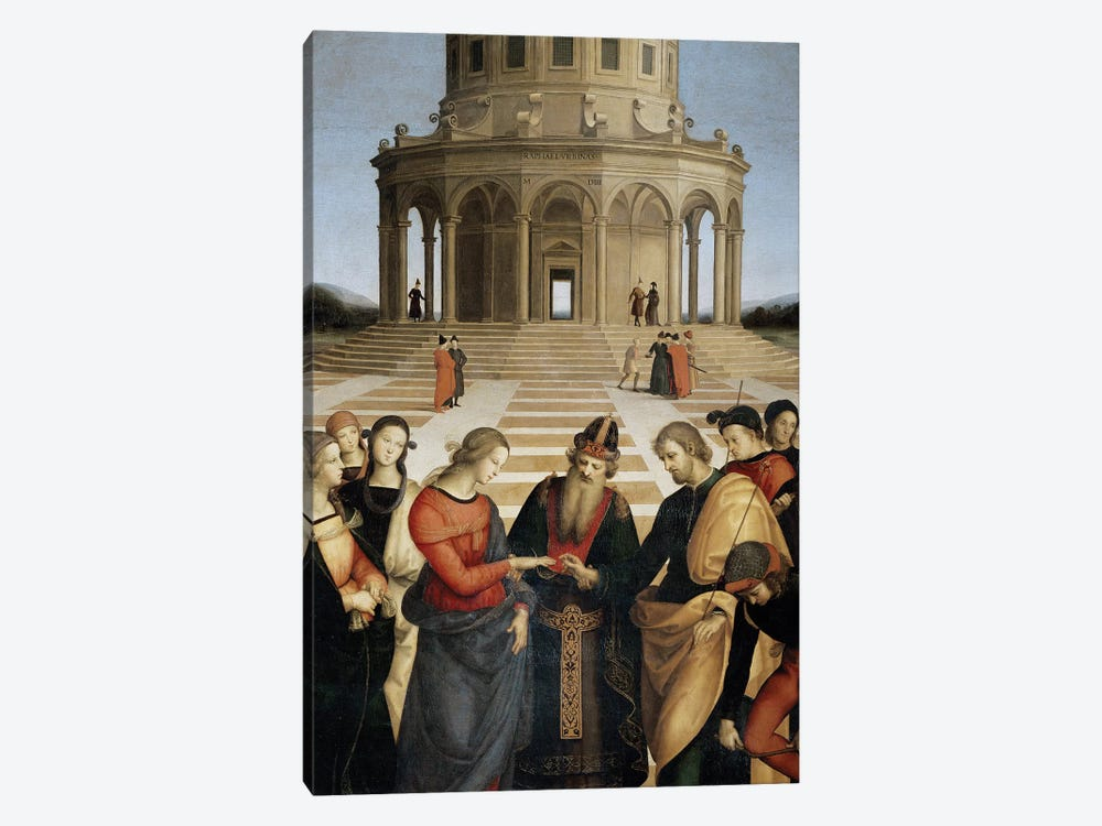 The Marriage of the Virgin, 1504 by Raphael 1-piece Canvas Artwork