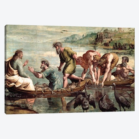 The Miraculous Draught of Fishes   Canvas Print #BMN9783} by Raphael Canvas Artwork