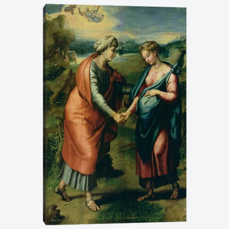 The Visitation Canvas Print #BMN9785} by Raphael Canvas Print