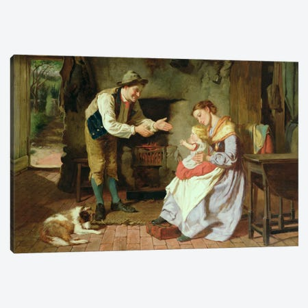 Come to Daddy Canvas Print #BMN978} by William Henry Midwood Canvas Art