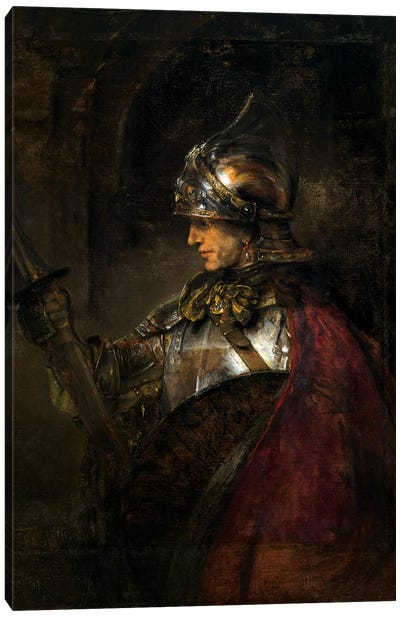 A Man in Armour, 1655  Canvas Art Print