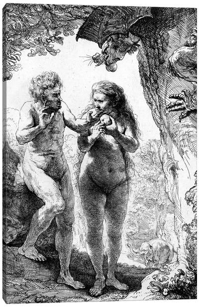 Adam and Eve, 1638  Canvas Art Print