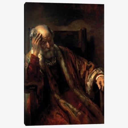 An Old Man in an Armchair  Canvas Print #BMN9793} by Rembrandt van Rijn Canvas Art Print