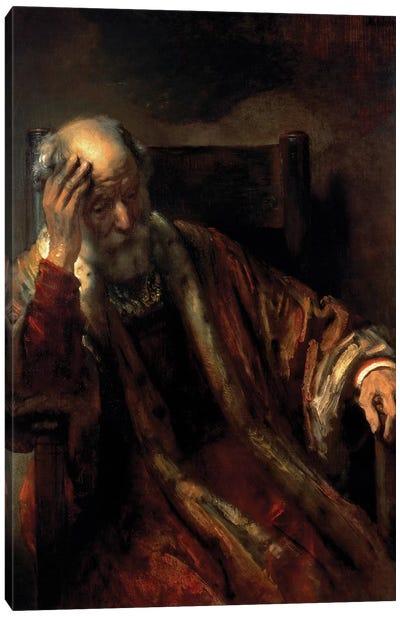 An Old Man in an Armchair  Canvas Art Print