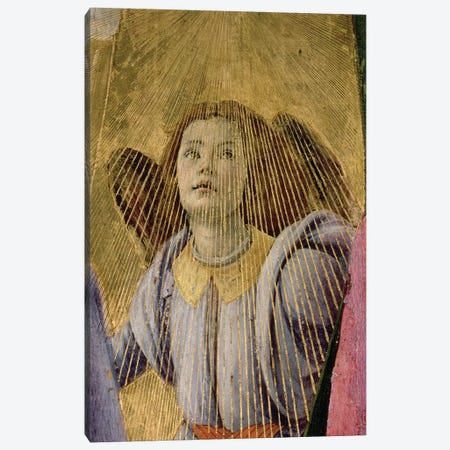 Angel, from the 'Coronation of the Virgin', c.1488-90   Canvas Print #BMN9799} by Sandro Botticelli Art Print