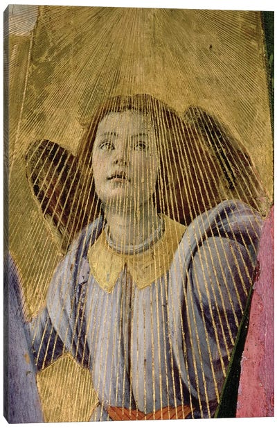Angel, from the 'Coronation of the Virgin', c.1488-90   Canvas Art Print
