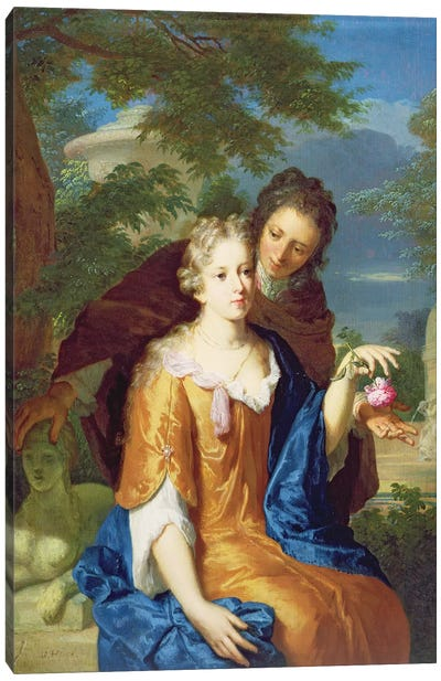 The Young Lovers Canvas Art Print