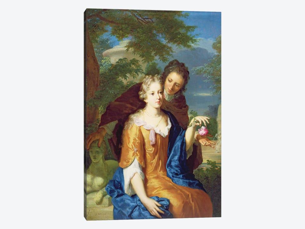 The Young Lovers by Gerard Hoet 1-piece Art Print