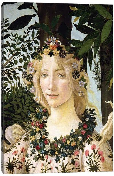 Flora, detail from the Primavera, c.1478  Canvas Art Print