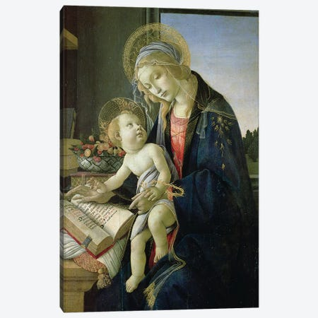 Madonna of the Book  c. 1480-81 Canvas Print #BMN9803} by Sandro Botticelli Art Print