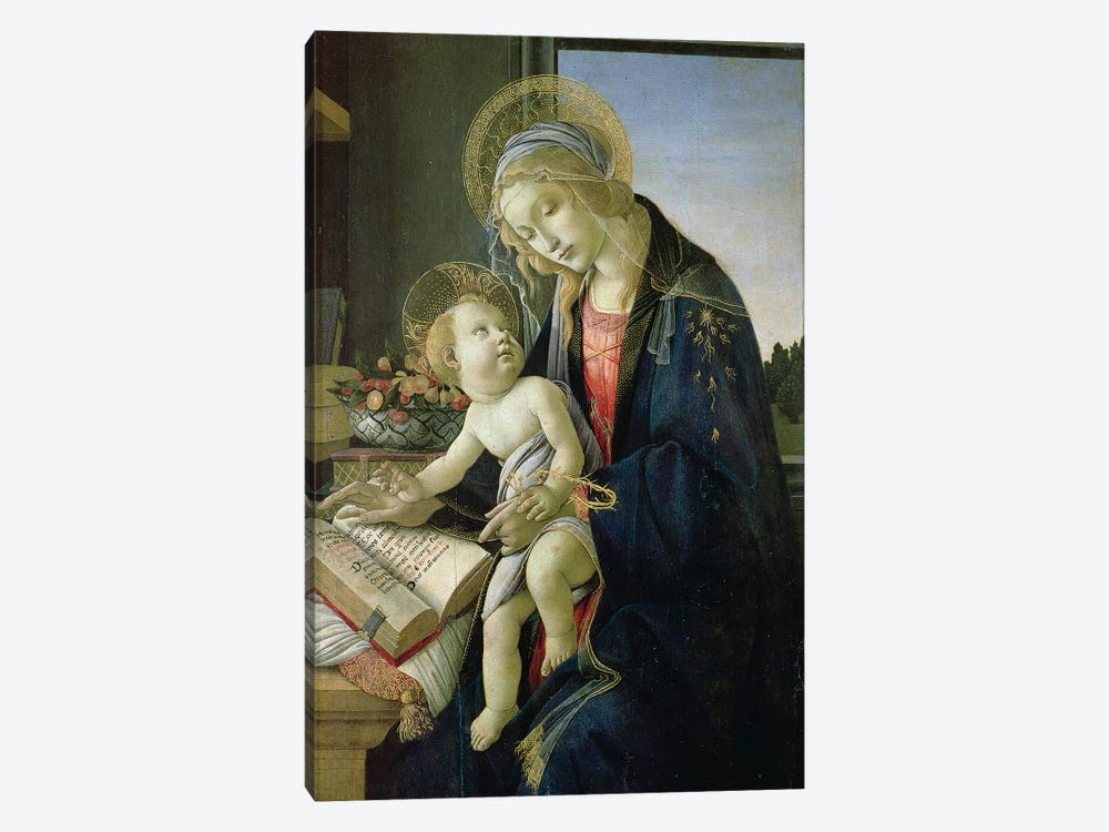 Madonna of the Book  c. 1480-81 by Sandro Botticelli 1-piece Canvas Artwork