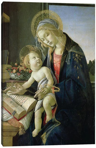Madonna of the Book  c. 1480-81 Canvas Art Print