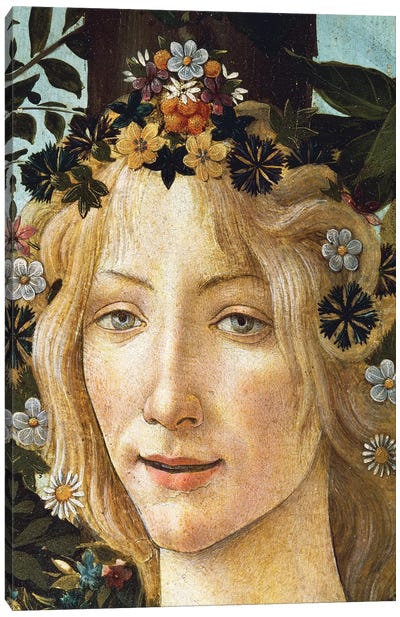 The face of Flora, detail of the allegory of spring, c. 1477-1490 Canvas Art Print