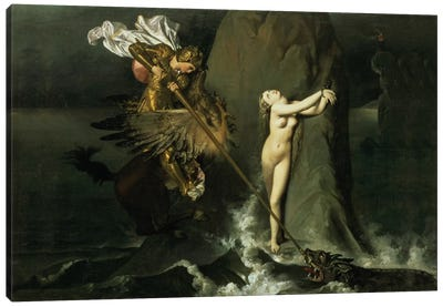 Ruggiero Rescuing Angelica, 1819  Canvas Art Print