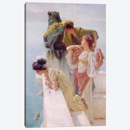 A Coign of Vantage, 1895  Canvas Print #BMN9810} by Sir Lawrence Alma-Tadema Canvas Wall Art