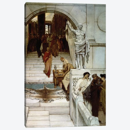 An Audience at Agrippa's, 1875  Canvas Print #BMN9811} by Sir Lawrence Alma-Tadema Canvas Art