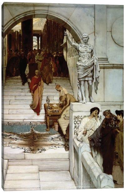 An Audience at Agrippa's, 1875  Canvas Art Print