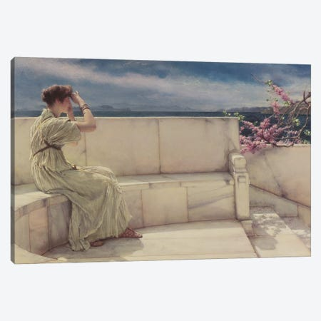 Expectations, 1885  Canvas Print #BMN9813} by Sir Lawrence Alma-Tadema Canvas Wall Art