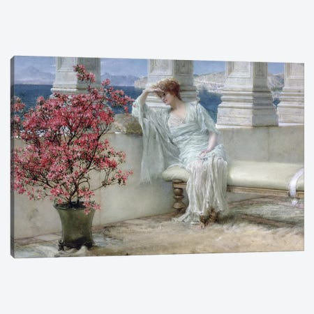 Her eyes are with her thoughts and they are far away', 1897  Canvas Print #BMN9814} by Sir Lawrence Alma-Tadema Canvas Print