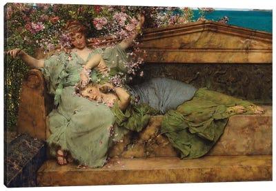 In a Rose Garden,  Canvas Art Print