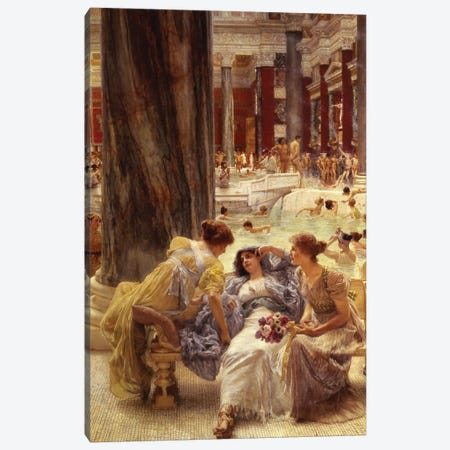 The Baths of Caracalla, 1899  Canvas Print #BMN9819} by Sir Lawrence Alma-Tadema Canvas Art