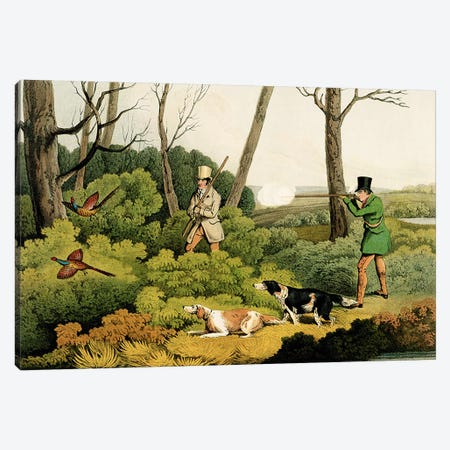 'Pheasant Shooting', pub. by Thomas McLean, 1820  Canvas Print #BMN981} by Henry Thomas Alken Canvas Print