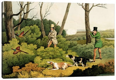 'Pheasant Shooting', pub. by Thomas McLean, 1820  Canvas Art Print