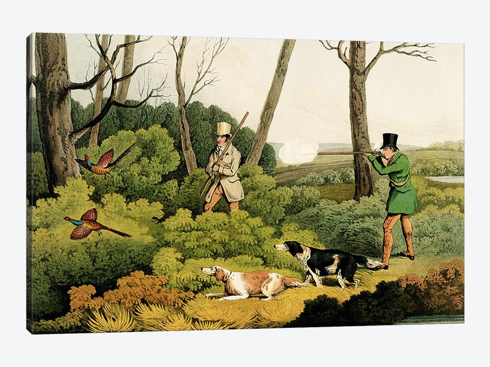 'Pheasant Shooting', pub. by Thomas McLean, 1820  by Henry Thomas Alken 1-piece Canvas Art