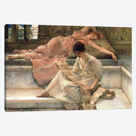 The Favourite Poet, 1888  Canvas Print #BMN9820} by Sir Lawrence Alma-Tadema Art Print