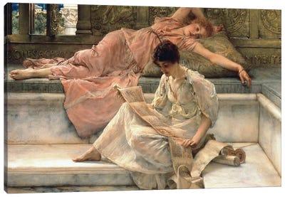 The Favourite Poet, 1888  Canvas Art Print