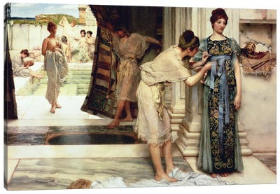 The Frigidarium, 1890  Canvas Art Print