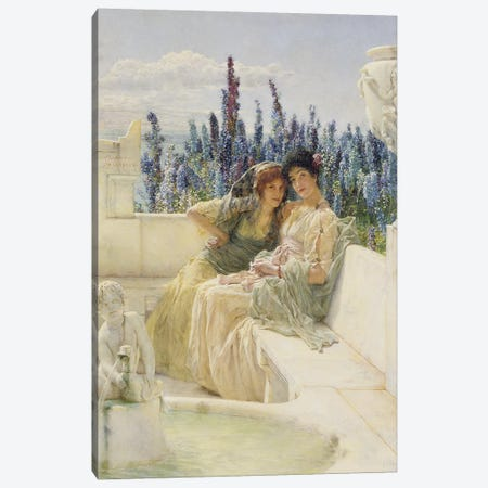Whispering Noon, 1896   Canvas Print #BMN9822} by Sir Lawrence Alma-Tadema Art Print